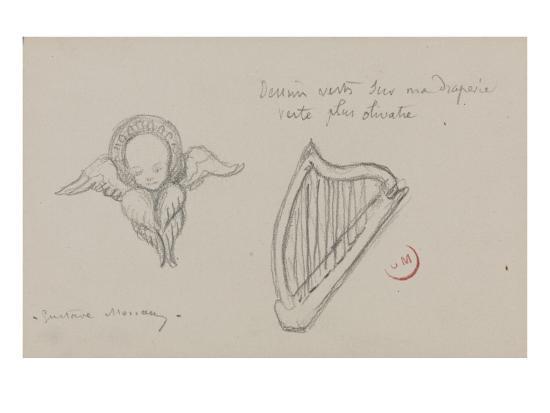 gustave-moreau-deux-etudes-harpe-seraphin