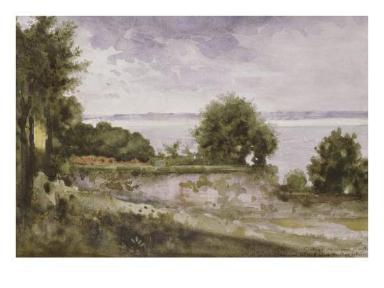gustave-moreau-paysage-honfleur-ou-jardin-de-madame-aupick-mere-de-baudelaire