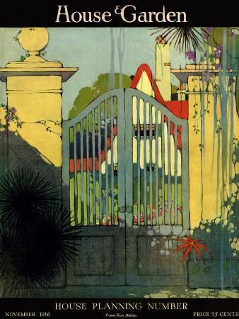 h-george-brandt-house-garden-cover-november-1918