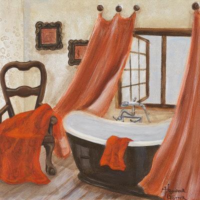 Antique bath ii art print by hakimipour ritter at - Salle de bain antique ...