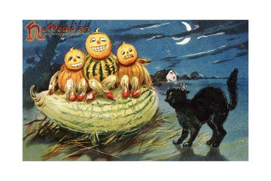 hallowe-en-postcard-with-jack-o-lanterns