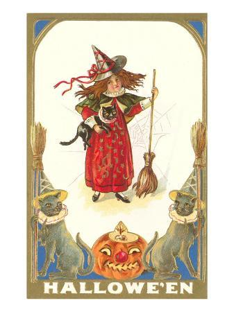 halloween-girl-witch-with-cats