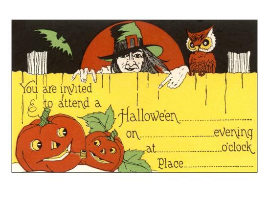 halloween-party-invitation-witch-jack-o-lanterns