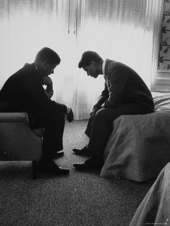 hank-walker-presidential-candidate-john-kennedy-conferring-with-brother-and-campaign-organizer-bobby-kennedy