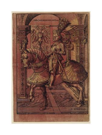 hans-burgkmair-emperor-maximilian-i-armed-on-horseback-1508