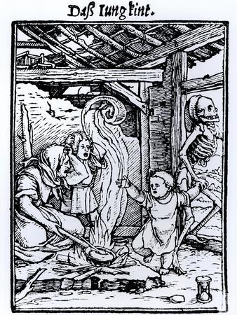 Hans Freckenberg Death Taking a Child f...