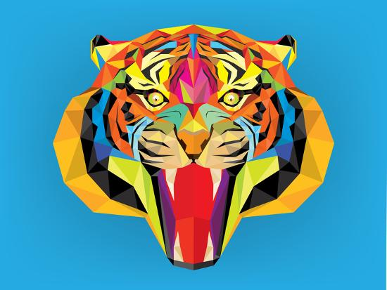 happysunstock-tiger-head-with-geometric-style