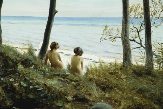 harald-slott-moller-on-the-beach-1907