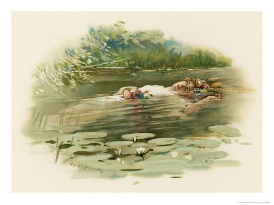 Sa Ophelia: Hamlet, Ophelia Drowns Giclee Print By Harold Copping At