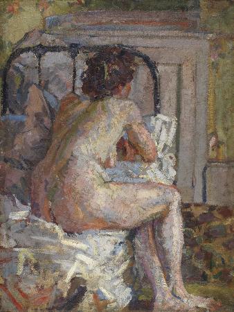 harold-gilman-nude-on-a-bed-c-1914