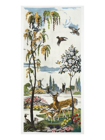 harry-wearne-magnum-opus-fallow-deer-pub-1933-colour-litho