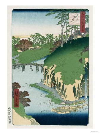 hashiguchi-goyo-river-of-waterfalls-oji-from-the-series-one-hundred-views-of-famous-places-in-edo