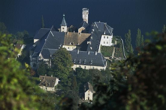 hautecombe-abbey-lake-bourget-rhone-alpes-france-12th-19th-century