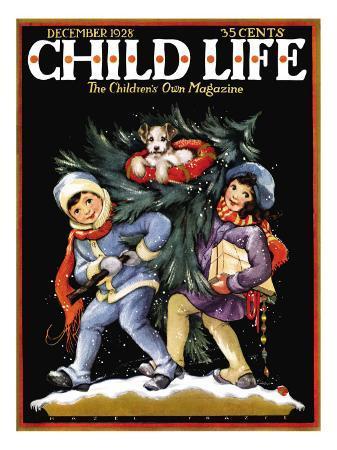 hazel-frazee-bringing-home-the-tree-child-life-december-1928
