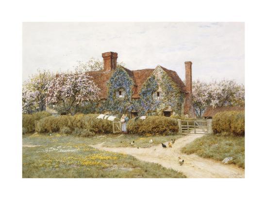 helen-allingham-a-buckinghamshire-house-at-penstreet