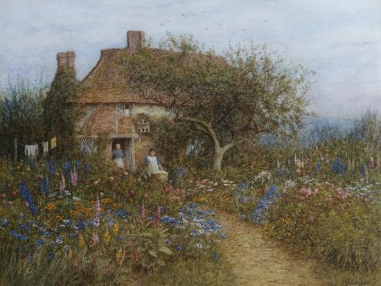 helen-allingham-a-cottage-near-brook-witley-surrey