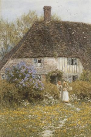 helen-allingham-a-kentish-cottage