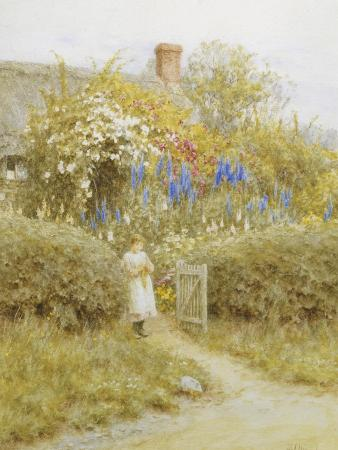helen-allingham-at-the-cottage-gate