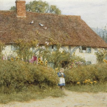 helen-allingham-cottage-at-west-horsley-surrey