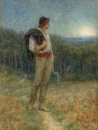 helen-allingham-harvest-moon-globed-in-mellow-splendour-1879
