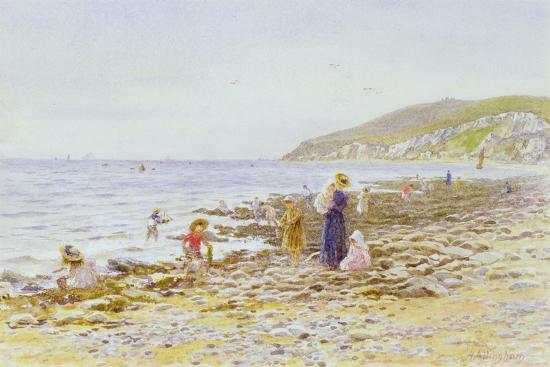 helen-allingham-on-the-beach