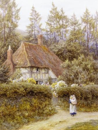 helen-allingham-pine-tree-cottage