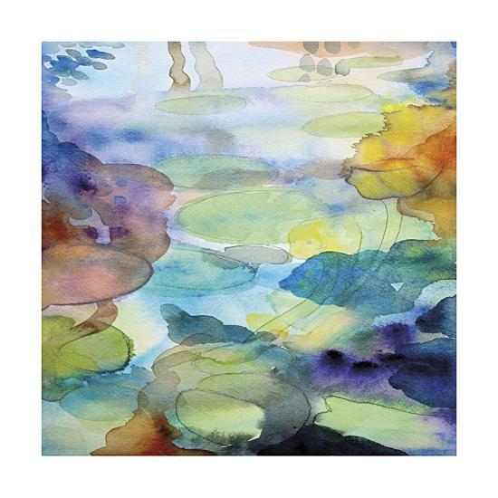 Ornamental pond 2 giclee print by helen wells at for Ornamental pond supplies