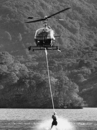 helicopter-being-used-for-ski-towing