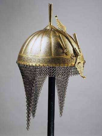 helmet-in-steel-and-gold-indian-manufacture-india-end-of-18th-century