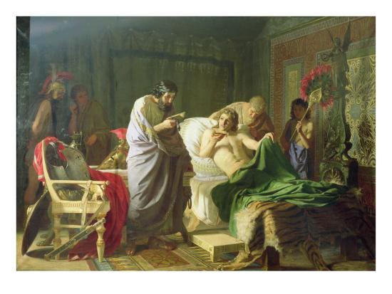 hendrik-siemiradzki-confidence-of-alexander-the-great-into-his-physician-philippos-1870