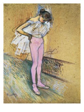 henri-de-toulouse-lautrec-danseuse-ajustant-son-maillot-le-premier-maillot