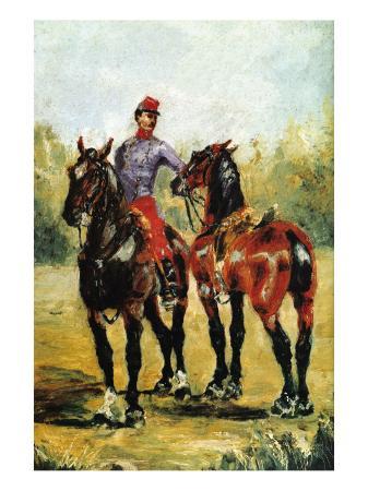 henri-de-toulouse-lautrec-groom-with-two-horses