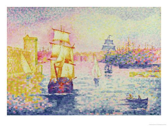 henri-edmond-cross-the-port-of-marseilles-circa-1909