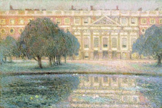 henri-eugene-augustin-le-sidaner-the-palace-summer-morning