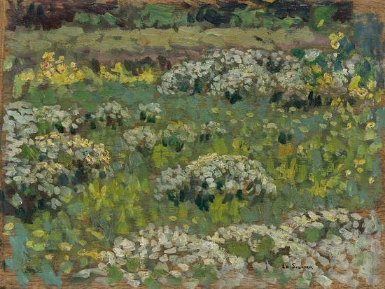 henri-eugene-augustin-le-sidaner-the-pond-garden-hampton-court