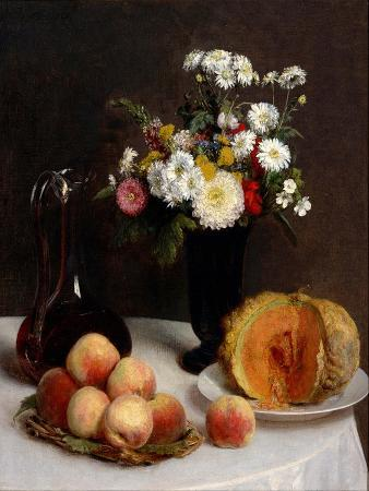 henri-fantin-latour-still-life-with-decanter-flowers-and-fruits-1865