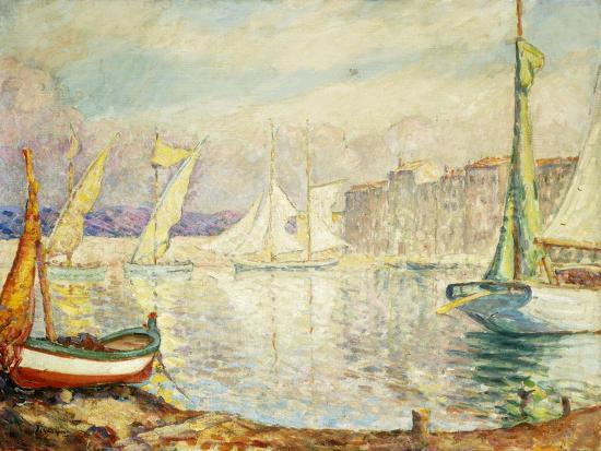 henri-lebasque-le-port-de-saint-tropez