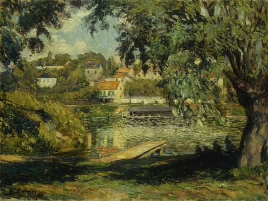 henri-lebasque-village-on-the-banks-of-the-river-village-au-bord-de-la-riviere-c-1900