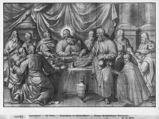 henri-lerambert-life-of-christ-the-last-supper-preparatory-study-of-tapestry-cartoon