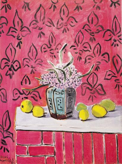 citrons sur fond rose art print by henri matisse at. Black Bedroom Furniture Sets. Home Design Ideas