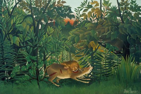 henri-rousseau-the-hungry-lion-1905