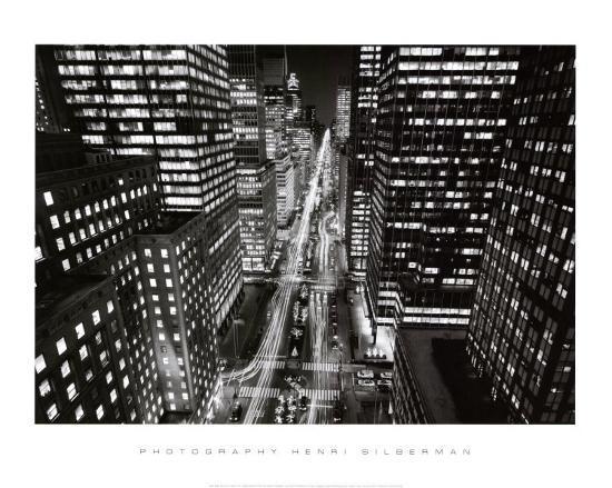 henri-silberman-park-avenue-at-night-new-york-city