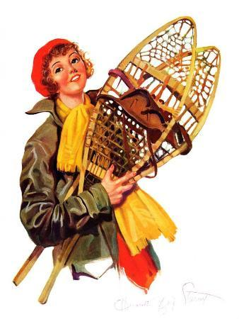 henrietta-mccaig-starret-woman-and-snowshoes-february-8-1936