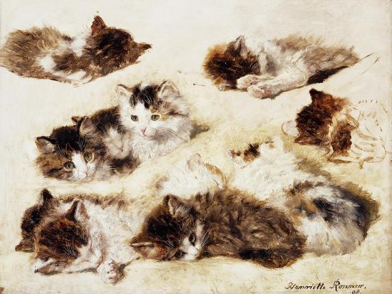 henriette-ronner-knip-a-study-of-kittens