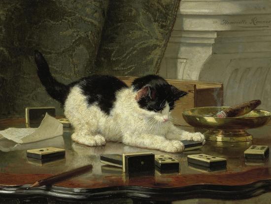 henriette-ronner-knip-kitten-s-game-ca-1860-1870