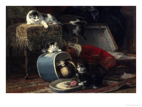 henriette-ronner-knip-mischief-with-a-new-hat
