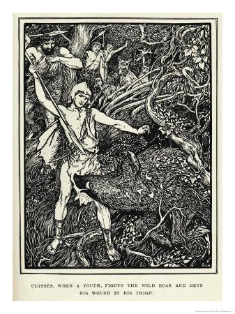 henry-justice-ford-young-odysseus-fights-a-wild-boar-and-gets-the-wound-in-his-thigh