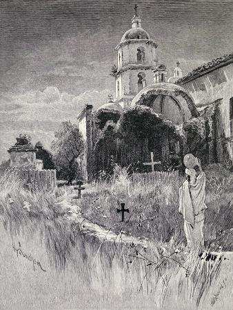 henry-sandham-graveyard-and-mission-san-luis-rey-de-francia-california-from-the-century-illustrated-monthly