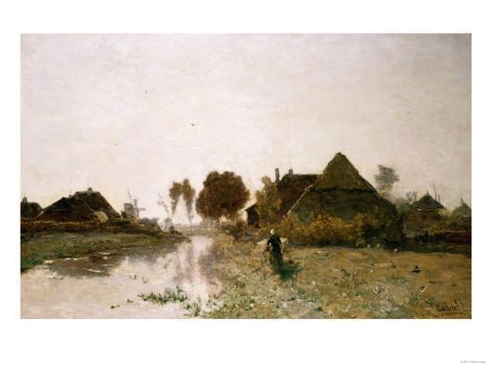 henry-thomas-alken-a-dutch-river-landscape-with-windmills