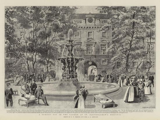 henry-william-brewer-a-summer-day-in-the-garden-at-st-bartholomew-s-hospital